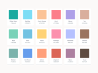 Zibbet Colour Palette