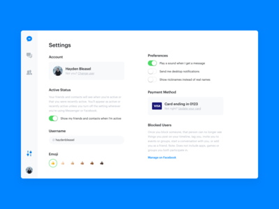 DailyUI 007 - Settings
