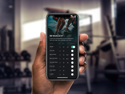 DailyUI 041 - Workout Tracker