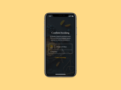 DailyUI 054 - Confirm Reservation