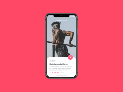 DailyUI 062 - Workout Of The Day