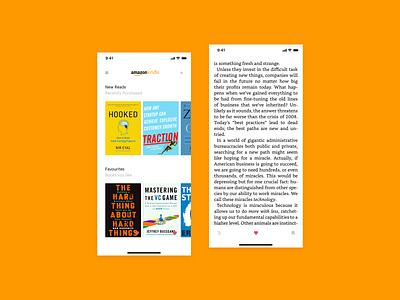 DailyUI 044 - Favourites favourites favorite books amazon bookstore bookshelf app app design kindle reading dailyui dailyui 044