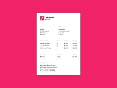 DailyUI 046 - Invoice xero dailyui 046 dailyui receipt payment invoice funding invoice template invoice design invoices invoicing invoice