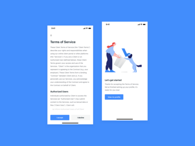 DailyUI 089 - Terms of Service