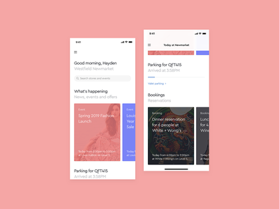 DailyUI 091 - Curated for You dailyui 091 dailyui stores research bookings reservations parking offers news events today tailored curated for you curated