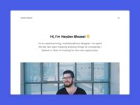 Hayden Bleasel 2019 Portfolio Website