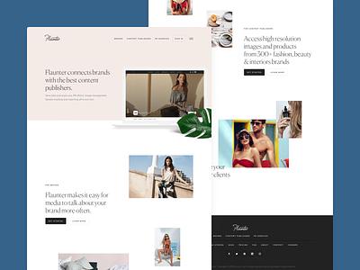 Flaunter Website fashion brand serif fashion photography website concept website design website flaunter