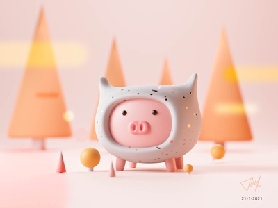 Piggy 3D 3d art 3d illustration 3d blender