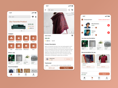 Nudeplast E-Commerce App product icon design app ecommerce online shop home brown uiux button uidesign app userinterface design ui