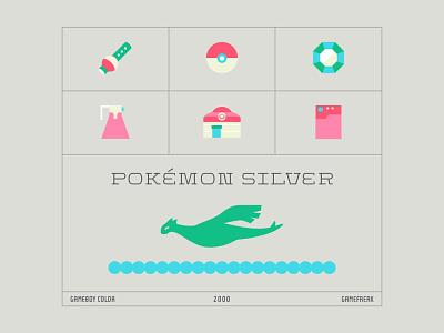 Pokemon Silver game cover redesign game cover redesign pokemon art lugia trainer pokeball gameboy game pokemon