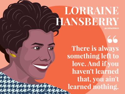 Lorraine Hansberry figure portrait hero lorrainehansberry l2rpaperco activist writer author women