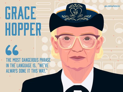 Grace Hopper science navy admiral women portrait gracehopper l2rpaperco hero figure computers engineer