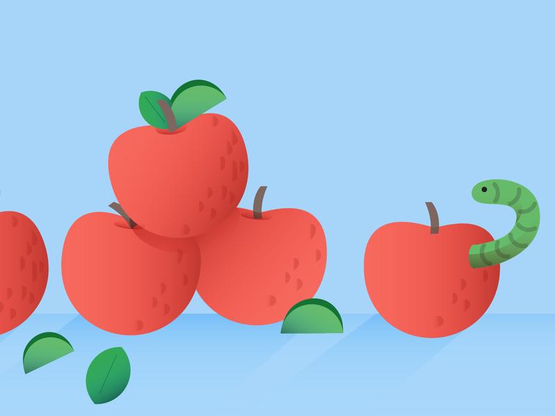 Bad Apple bugs snakes bad apples