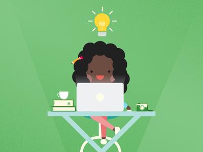 Bright Ideas work desk smart illustrator bright ideastorm