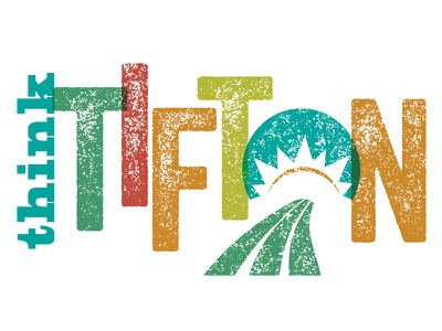 Tifton tourism logo distressed colorful agriculture