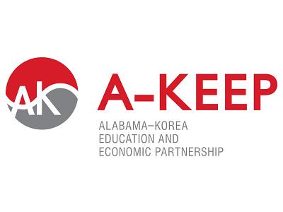 A-KEEP Logo logo korean red gray