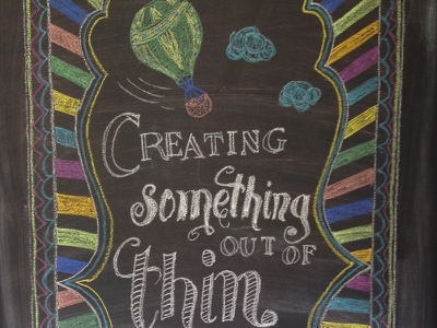Chalkboard Quote chalkboard chalk hand typography hot air balloon quote
