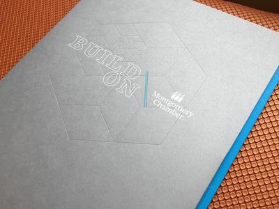 Chamber Pocket Folder chamber pocket folder foil clear foil emboss metallic silver cyan