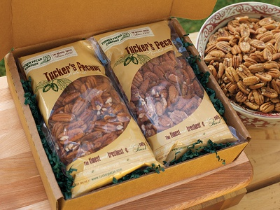 Tucker Pecan Cello Packaging cello packaging pecans nuts wood cut clear