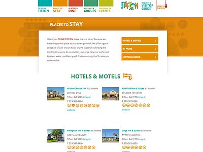 TiftonTourism.com website agriculture colorful distressed tourism hotel motel