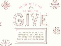 Joy To Life Holiday Donation Card