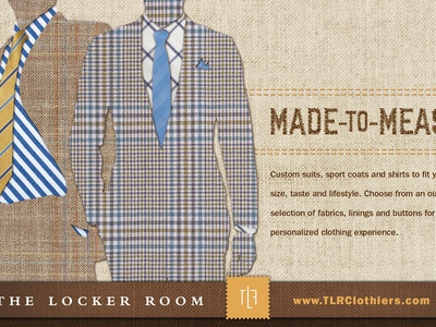 Men's Custom Suits Ad stitching fabric tie mens custom suit made to measure advertising clothing fashion suit