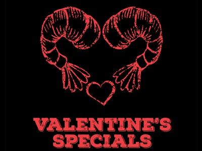 Shrimp Heart love chalkboard seafood restaurant valentines day heart vector chalk