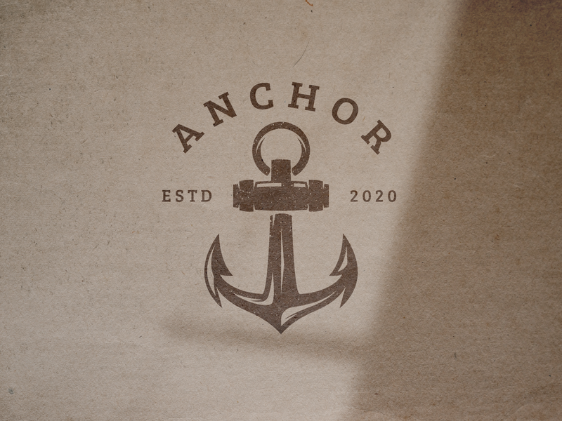 Anchor Logo Template | FREEBIES! nautical logo marine logo sailor logo anchor logo freebies logo vector logo template icon vintage logo retro logo logo design logos logo