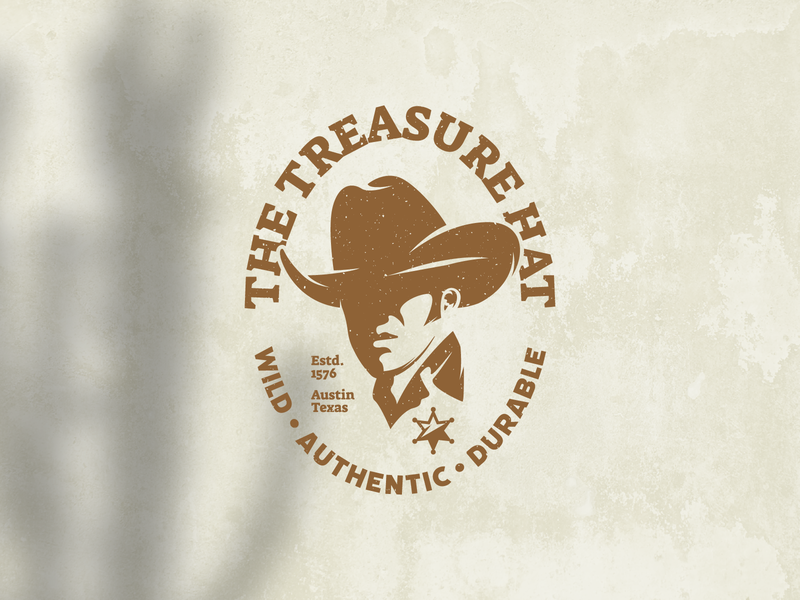 Retro Cowboy Hat Logo Badge man rancher country rodeo western cowboy silhouette leather texas sheriff logo hat log cowboy logo logo vector design logo template icon vintage logo retro logo logo design logos logo