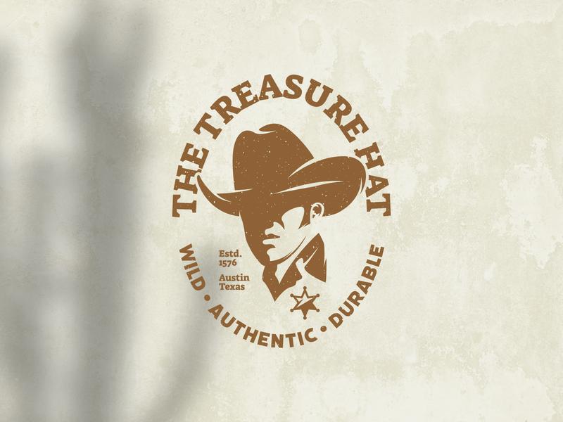 Retro Cowboy Hat Logo Badge man rancher country rodeo western cowboy silhouette leather texas sheriff logo hat log cowboy logo logo vector design logo template icon vintage logo retro logo logo design logos logo
