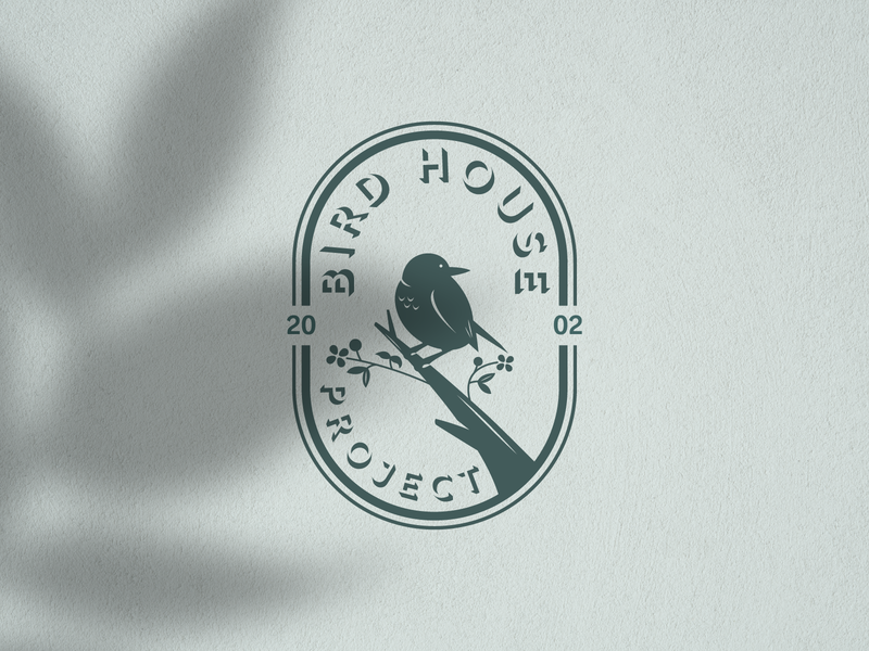 Bird House Project Logo animal logo silhouette vector birds nest logo bird logo logo vector design logo template icon vintage logo retro logo logo design logos logo