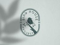 Bird House Project Logo animal logo silhouette vector birds nest logo bird logo logo vector design logo template icon vintage logo retro logo logo design logos logo
