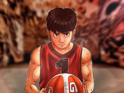 Basketboy mascot animeart anime character