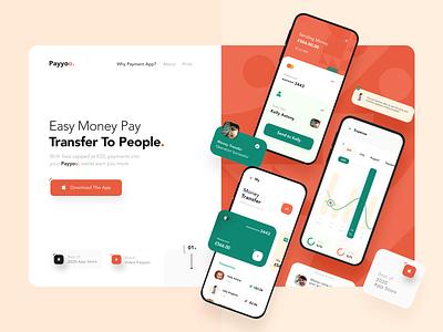 Transfer App Web Design web design webdesign finance website creative ux ui clean colors statistics orange application app web site website money transfer money app transfer web