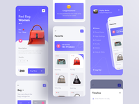 Getshop - Shoping app design product details product page app menu ecommerce women bag womens fireart clean mobile app aplication app design mobileapps bag bags creative design ui creative mobile app