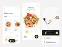 Fode - Food Delivery App creative design ui8 fireart yellow app application product design mobile app design clean pizza food food delivery mobile app mobile ux ui