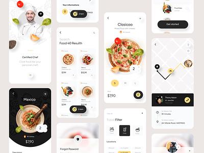 Food Delivery App ui8 fireart creative clean food delivery food delivery app delivery app uxui mobile design design food illustration pizza food