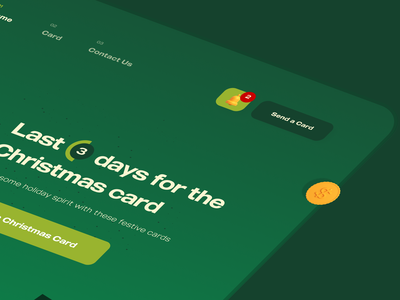 Merry Christmas- Web Design 3d 3d art cool new year loader typography clean uxdesign vector illustration 3d illustration green merry christmas santa claus web design ux ui