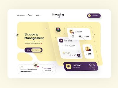 Shopping Management UI Elements - Web Design website web website design ux design elements ui elements uiux product design creative design portfolio app web design uxdesign design webdesign ui ux creative