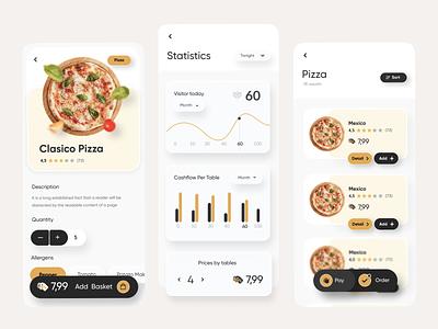 Food -Mobile App logo creative design web design uxdesign uidesign webdesign ui ux yellow food delivery app delivery app food app food