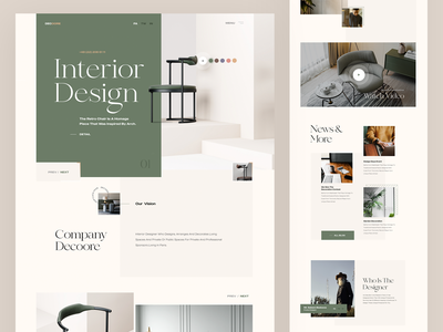Landing Page - Decore green design art chairman chair decorations web design uxdesign illustration uidesign webdesign creative ux ui decoration