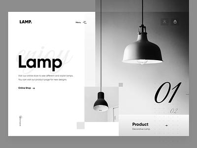 Lamp - Web Design design creative ux ui webdesign typography website design all branding cool black lamps lamp uidesign web design