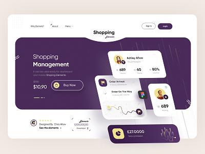 UI Element Sales Website! design system order designer design shop sales free web design ux elements ui