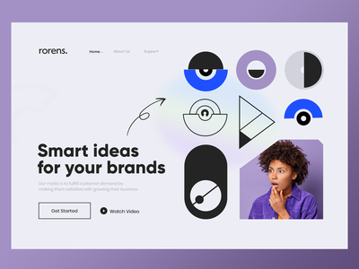 Agency Web Site color user typografi women yellow creative branding logo illustration uxdesign design uidesign webdesign ux u website agency ui