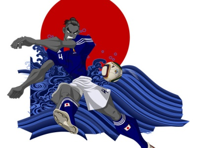 WC2010 Tanaka Marcus Tulio illustration