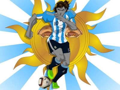 WC2010 Messi illustration