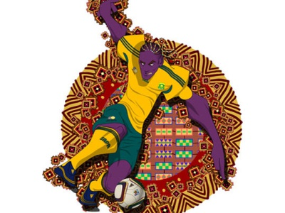 WC2010 Steven Pienaar illustration