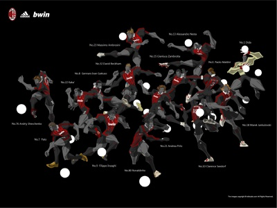 2008-2009 A.C.Milan illustration