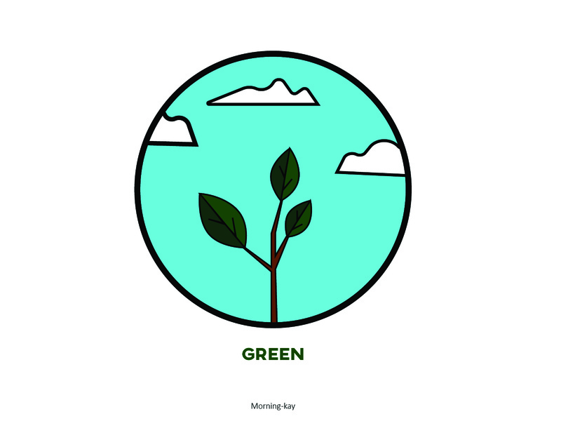 Green illustration graphics greens green