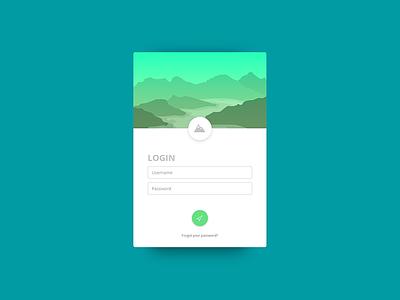 App Design card web design ux ui login